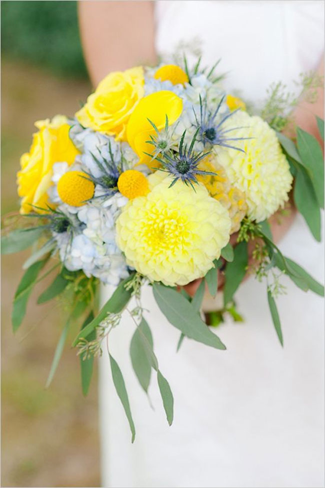Blue Green Yellow Spring Wedding See Colours Palette Powder