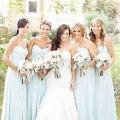 Blue and gold wedding colors light blue bridesmaids pale blue wedding