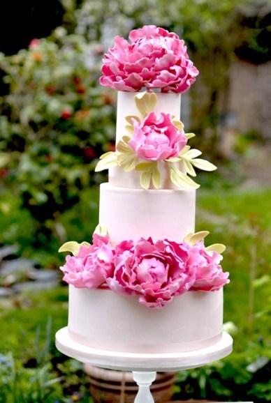 Pink peony wedding cake,Pink peony wedding cake pictures,pink wedding cakes,wedding cake peony flowers,peony wedding cake topper,peony rose wedding cake