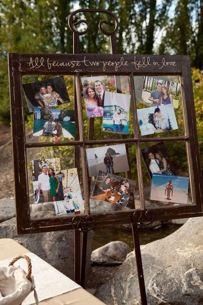 21 Fabulous Wedding Photo Display Ideas Reception