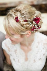 bridal hair flowers with wow