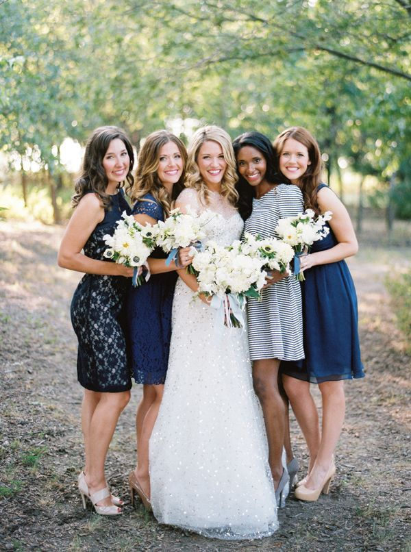 blue bridesmaid - blue wedding ideas: fabmood.com