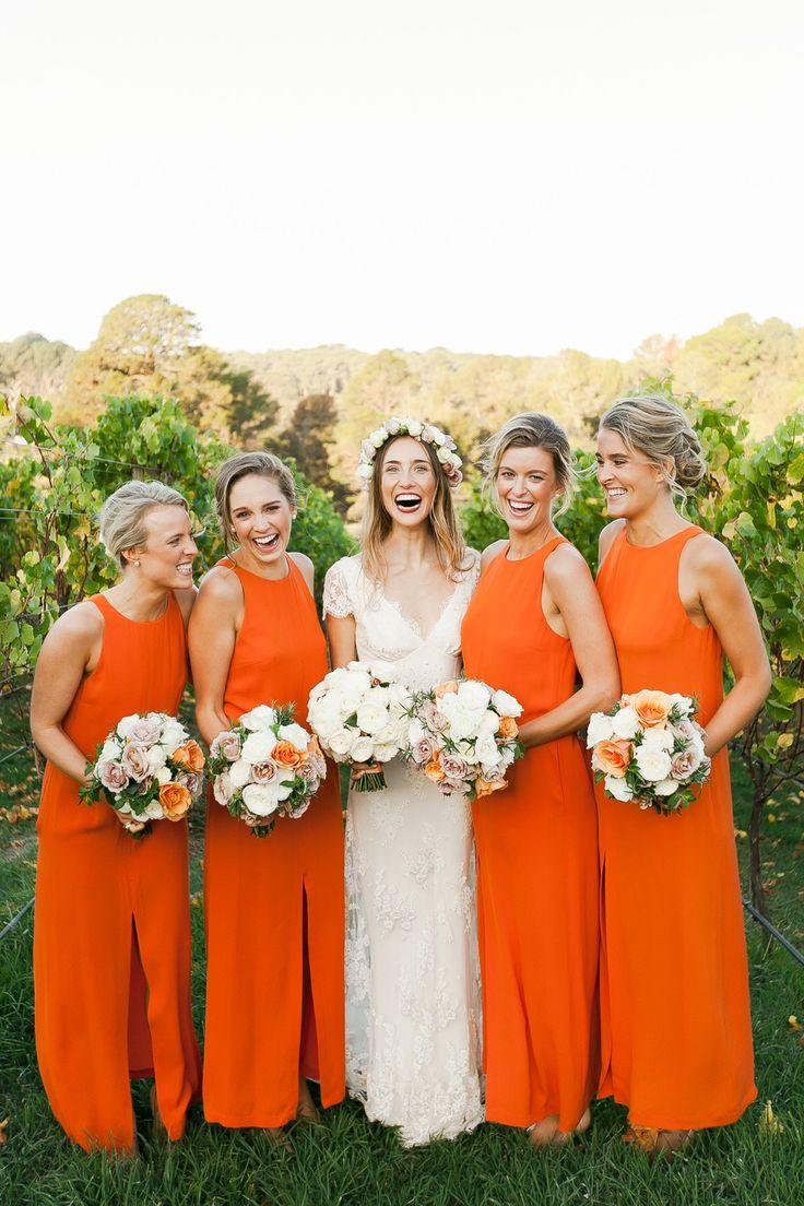 Wedding Burnt Orange Bridesmaid Dresses Raveitsafe