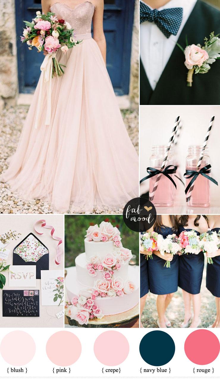 Blush pink and Navy Blue Wedding Inspiration