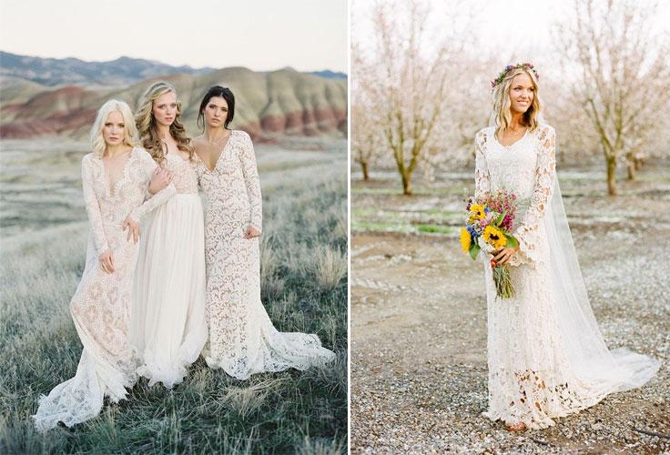 10 Beautiful Bohemian Wedding Dresses  Boho Wedding Dresses