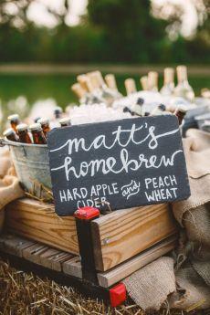 Homebrew - Wedding in The Peach Orchard | Photography : marymargaretsmith.com | https://www.fabmood.com/a-cozy-fall-wedding-in-the-peach-orchard #peach #fallwedding