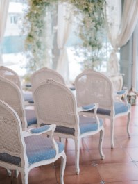Winter wedding ceremony decoration | Light Blue Winter Wedding Read more Real Winter Weddings | fabmood.com #winterwedding