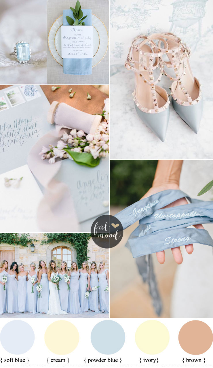 Powder blue and cream wedding colours for classic brides 1