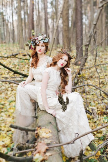 Enchanted Forest Fairytale Wedding in Shades of Autumn | fabmood.com