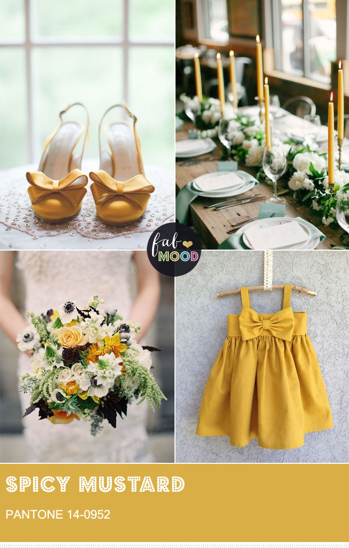 Pantone Spicy Mustard wedding colour theme  Pantone Fall 2016