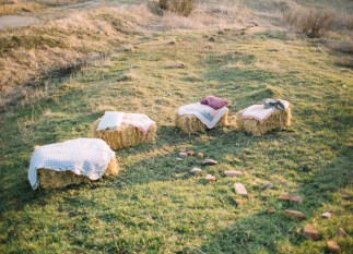 Hay seat Simple wedding decor for Eco-friendly Natural,Boho Hippie Chic Wedding | fab mood
