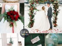 A Christmas Themed Wedding with the lush colours of deep ...