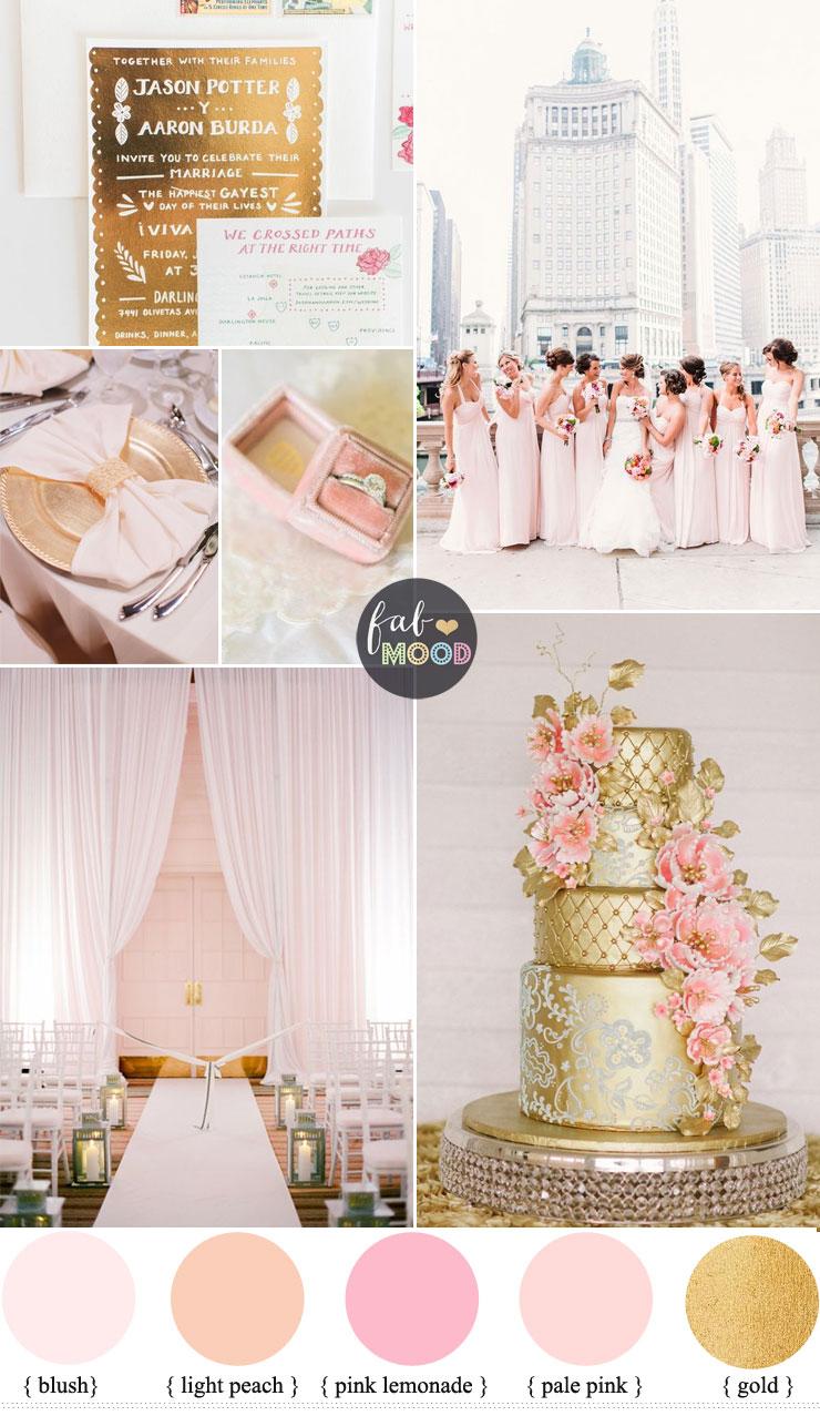 Blush pink wedding theme  36 Pretty blush pink color