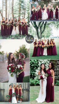 Burgundy bridesmaid dresses make your fall wedding stand out