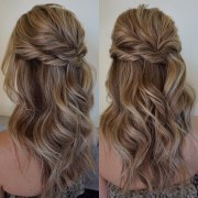 partial updo wedding hairstyle