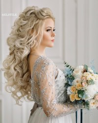 18 beautiful wedding hairstyles down for brides and ...