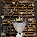 Wooden Pallet Wedding Backdrop Eco Friendly Rustic Wooden Backdrop