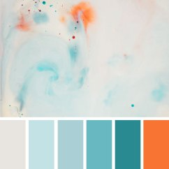 Kitchen Themes Decor Aid Bowl Light Blue Teal And Orange Colour Palette 1 - Fab Mood ...