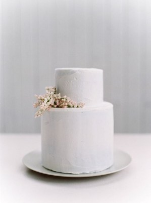 Simple Wedding Cakes for a Minimalist Wedding - minimalist wedding cake #weddingcake ,wedding cakes
