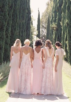 pink bridesmaid dress, bridesmaid dresses, mismatched bridesmaid dresses