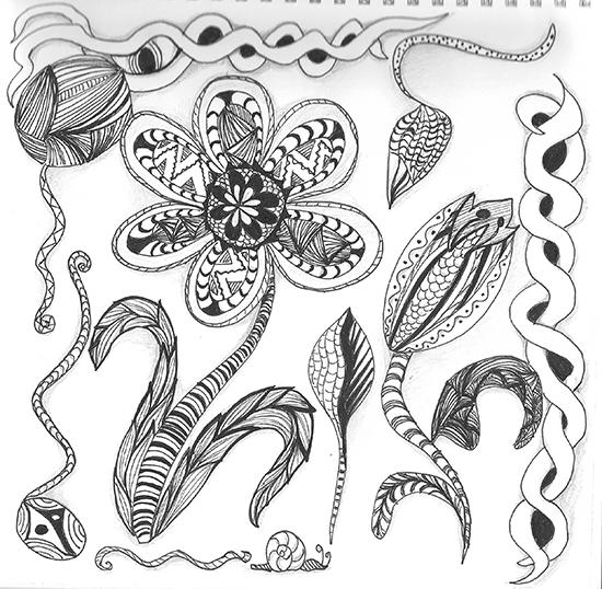 Fab Mums » Spring Zentangle Inspired Art