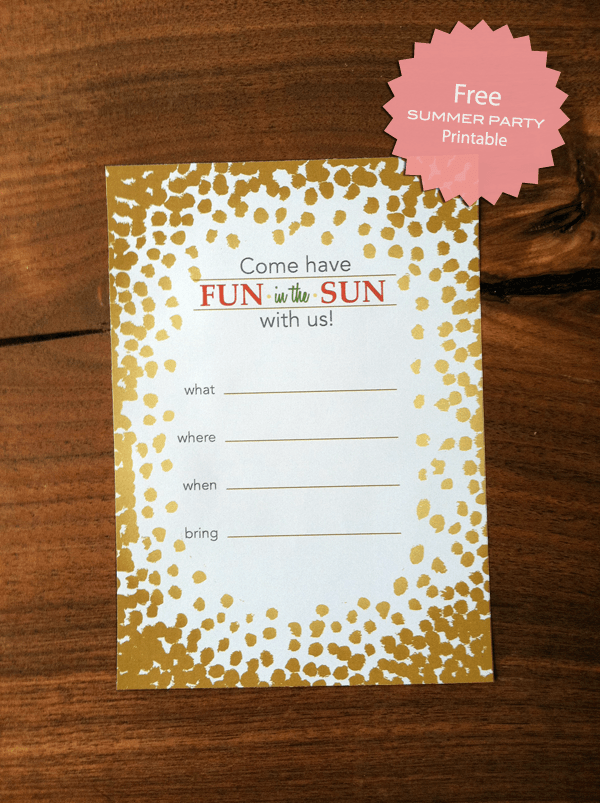 Another Free Summer Party Invitation Printable Fab N Free