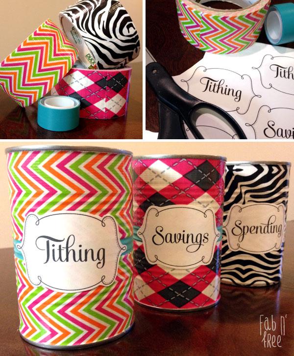 Tithing Savings Spending Jars Free Printable Labels