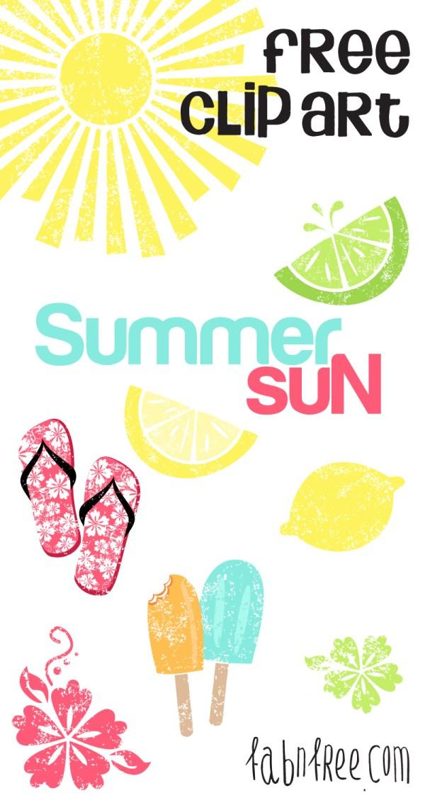 summer free clip art set