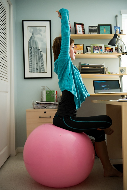 Easy To Do Exercises with a Fit Ball