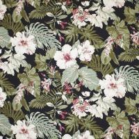 Big Kahuna Fabrics Tropical Garden Black ...