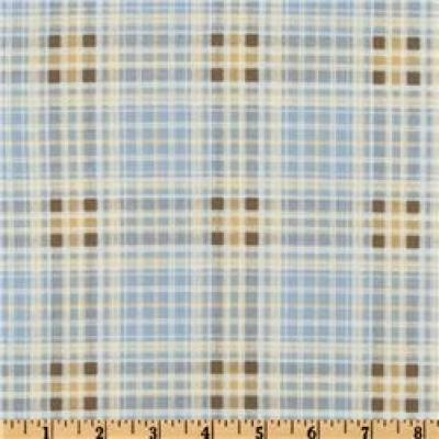 Nature's Etchings Shirting Plaid Bay Blue/Beige