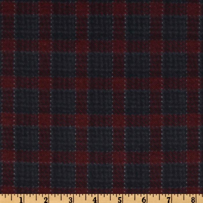 Plaid Charcoal/Red Flannel