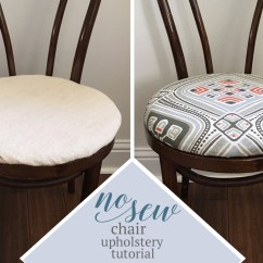 Upholstering A Chair Seat Cushion Baby Trend Replacement High Cover No Sew Dining Upholstery Tutorial Learn How To Re
