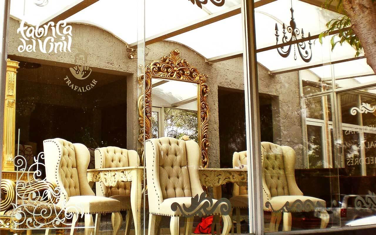 Decals Decorativas para vitrina de mueblera en