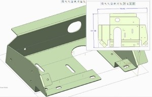Design and draw drawings of sheet metal parts