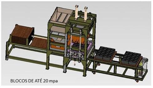 projeto mecanico completo maquina de blocos artefatos concreto fabricadoprojeto