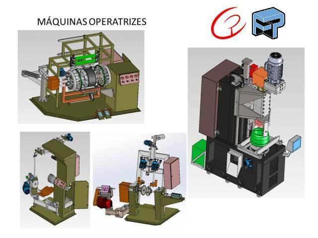 Projetos mecanicos completos para Máquinas Operatrizes