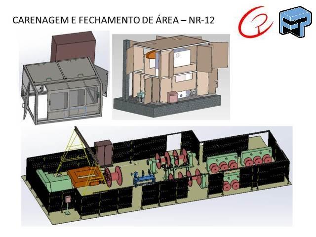 Projeto mecanico completo para NR e carenagens fechamento e protecao fabricadoprojeto