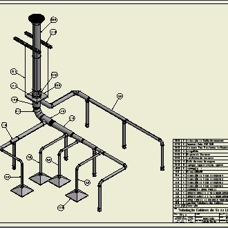 Tubulação de Exaustão Cabines Lnha 1