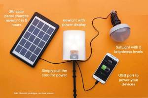nowlight portable led light for off grid illumination and charging 2