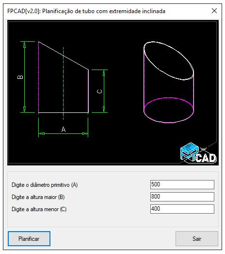 [FPCAD V2.0] Planificação de tubo em grau