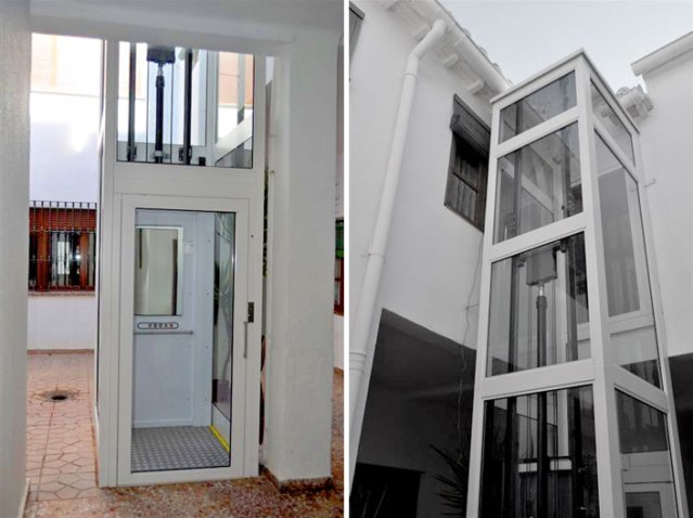 projeto elevador residencial cilindro telescopico
