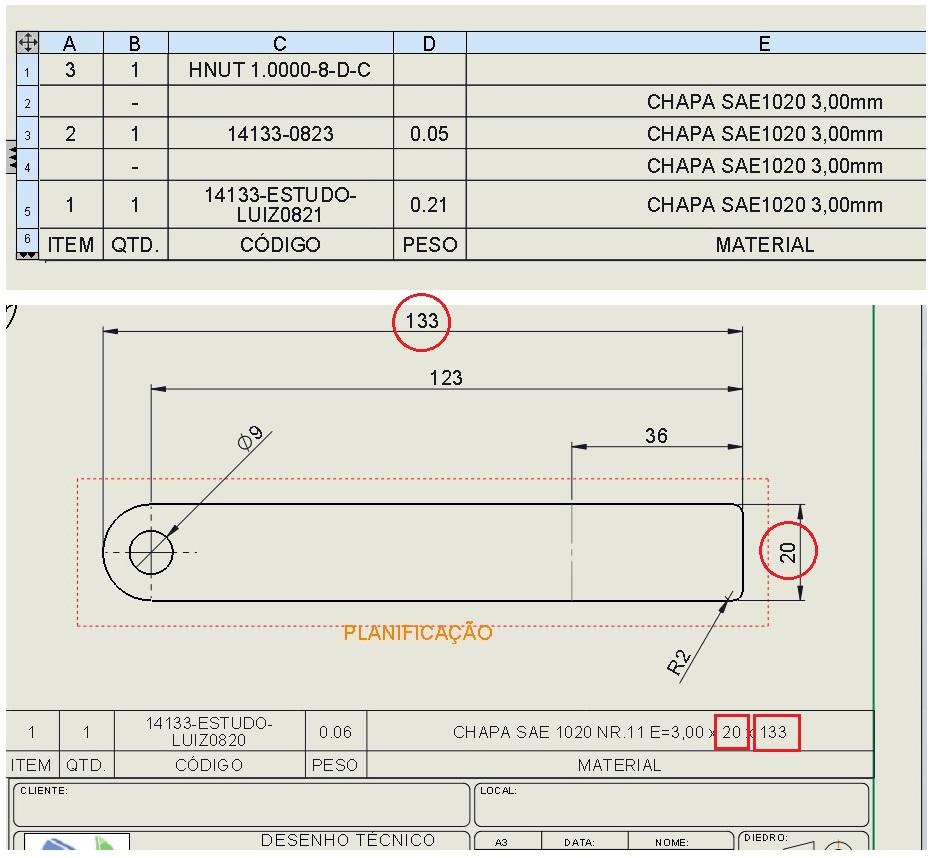 fabricadoprojeto preenchimento automatico lista materiais solidworks