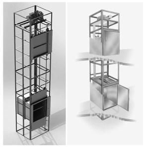 projeto completo elevador monta carga para restaurante 60kg