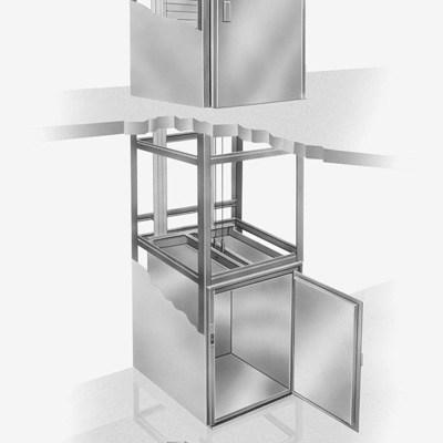 projeto completo elevador monta carga para restaurante fabricadoprojeto 60Kg