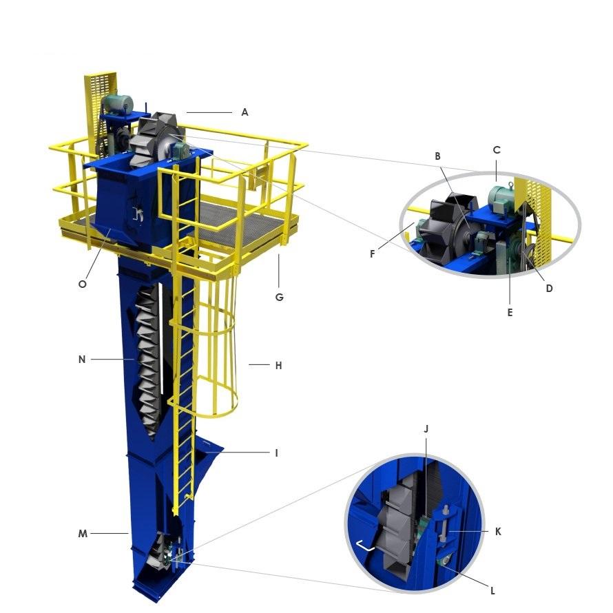 projeto mecanico completo elevador de canecas fabricadoprojeto