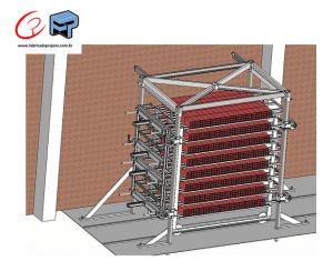 projeto mecanico completo estacao de alinhamento de blocos de concreto estufa fabricadoprojeto