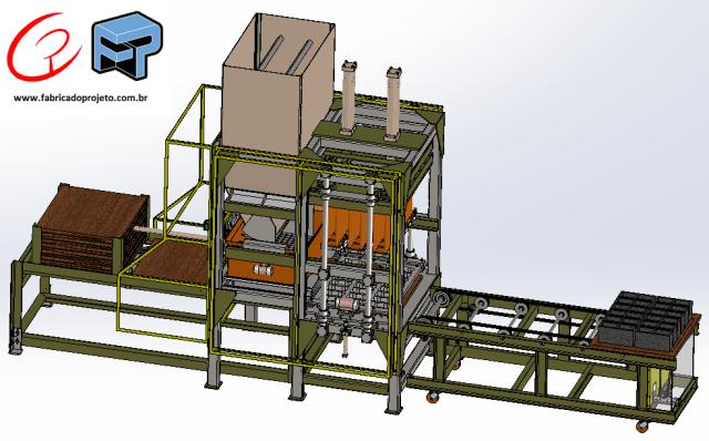projeto mecanico completo vibroprensa artefatos de concreto fabricadoprojeto