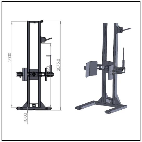 Projeto mecanico completo elevador de carga manual