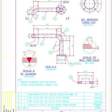 Detalhamento e Asbuilt em tubulação industrial fabricadoprojeto